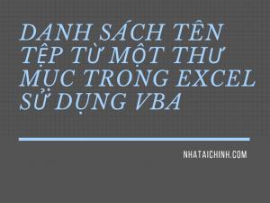 Lấy danh sách tên tệp từ một thư mục trong Excel (có và không có VBA)